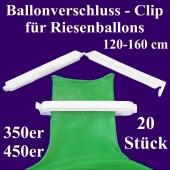 Ballonverschlüsse, Clips, Fixverschlüsse für Riesenballons 350er und 450er, 20 Stück