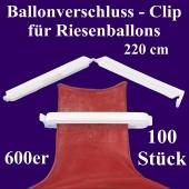 Ballonverschlüsse, Clips, Fixverschlüsse für Riesenballons 600er, 100 Stück