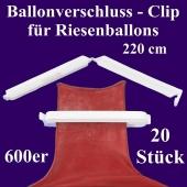 Ballonverschlüsse, Clips, Fixverschlüsse für Riesenballons 600er, 20 Stück