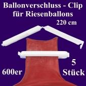 Ballonverschlüsse, Clips, Fixverschlüsse für Riesenballons 600er, 5 Stück