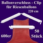 Ballonverschlüsse, Clips, Fixverschlüsse für Riesenballons 600er, 50 Stück