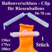 Ballonverschluss, Clip für Riesenballons aus Latex von 50 cm bis 70 cm