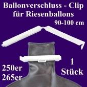 Ballonverschluss, Clip für Riesenballons aus Latex von 90 cm bis 100 cm