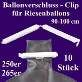 Ballonverschlüsse, Clips für Riesenballons aus Latex von 90 cm bis 100 cm, 10 Stück