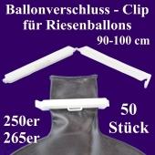 Ballonverschlüsse, Clips für Riesenballons aus Latex von 90 cm bis 100 cm, 50 Stück