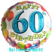 Luftballon aus Folie zum 60. Geburtstag, Balloons, Ballon mit Helium-Ballongas