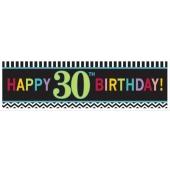 Riesen Geburtstagsbanner zum 30. Gebutstag