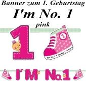Banner I'm No. 1, pink