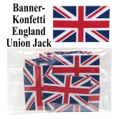 Banner Konfetti, Tischdeko-Konfetti England, Union Jack