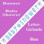 Baby Shower Buchstabengirlande, Blau