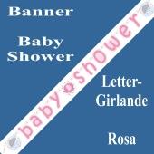 Baby Shower Buchstabengirlande, Rosa
