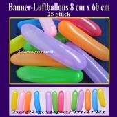 Banner-Luftballons, 25 Stück, bunt gemischt