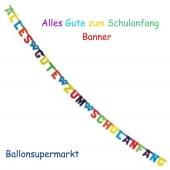 Banner, Alles Gute zum Schulanfang, zur Einschulung