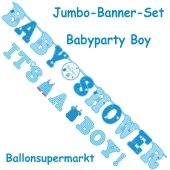 Jumbo-Banner-Set Shower with Love Boy