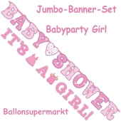 Jumbo-Banner-Set Shower with Love Girl