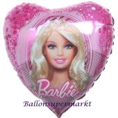 Barbie mit Diadem, Luftballon aus Folie ohne Ballongas
