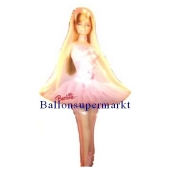 Luftballon Barbie Dance, Folienballon mit Ballongas