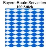 Servietten Bayrische Rauten, 100 Stück
