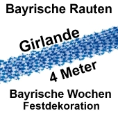 Bayrische Raute Festgirlande 4 Meter