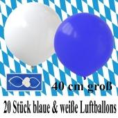 20-blaue-und-weisse-Luftballons-40 cm-gross-Bayrische-Wochen-Dekoration