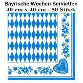 Bayrische Wochen Servietten, 40 cm x 40 cm, 50 Stück