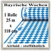 Bayrische Wochen Tischdecke auf Rolle, stoffähnlich, Airlaid, 25 Meter x 118 cm, stoffähnlich