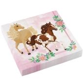 Servietten zum Kindergeburtstag, Beautiful Horses