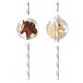 Beautiful Horses Trinkhalme zum Kindergeburtstag