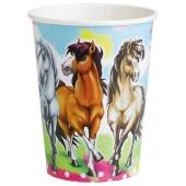 Pferde Partybecher 8 Stück Charming Horses