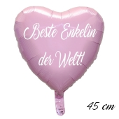Beste Enkelin der Welt Luftballon. 45 cm inklusive Helium