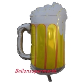Luftballon aus Folie, Folienballon mit Ballongas, großes Bier, Bierkrug
