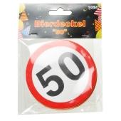 Bierdeckel Verkehrsschild 50 zum 50. Geburtstag