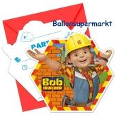 Bob der Baumeister Einladungskarten zum Kindergeburtstag