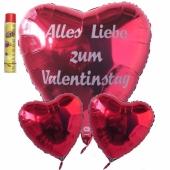Valentinstag, schwebende Helium Luftballons, Bouquet 4, inklusive Heliumdose