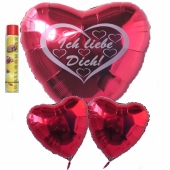 Ich liebe dich, schwebende Helium Luftballons, Bouquet 6, inklusive Heliumdose