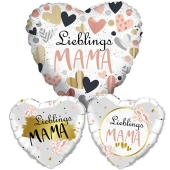 Bouquet aus Herzluftballons mit Helium zum Muttertag: Lieblings-Mama