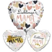 Bouquet aus Herzluftballons ohne Helium zum Muttertag: Lieblings-Mama