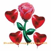 Bouquet aus Luftballons zur Rosenhochzeit