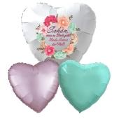 Bouquet 10 zum Muttertag, 3 Heliumballons