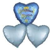 Bouquet 12 zum Muttertag, 3 Heliumballons