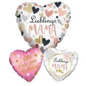 Bouquet 4 zum Muttertag, 3 Heliumballons