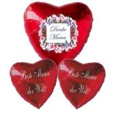 Bouquet 9 zum Muttertag, 3 Heliumballons