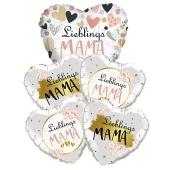 Bouquet 22 zum Muttertag, 5 Heliumballons