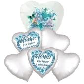 Bouquet 15 zum Muttertag, 6 Heliumballons