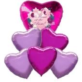Bouquet 16 zum Muttertag, 6 Heliumballons