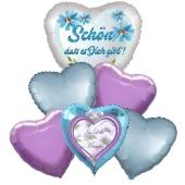 Bouquet 17 zum Muttertag, 6 Heliumballons