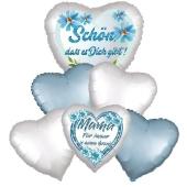 Bouquet 18 zum Muttertag, 6 Heliumballons
