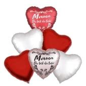Bouquet 24 zum Muttertag, 6 Heliumballons