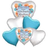 Bouquet 25 zum Muttertag, 6 Heliumballons