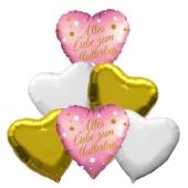 Bouquet 28 zum Muttertag, 6 Heliumballons
